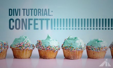 Divi Tutorial – Confetti in the background