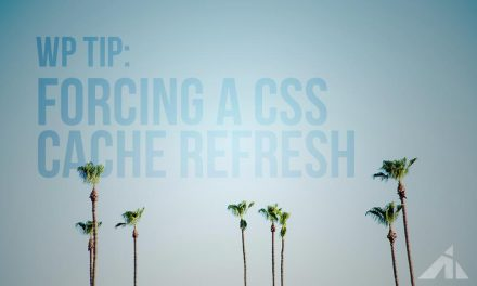 WP tip – Forcing a CSS stylesheet refresh