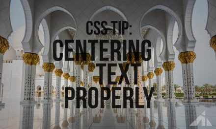 CSS – Centering Text with Loose Tracking