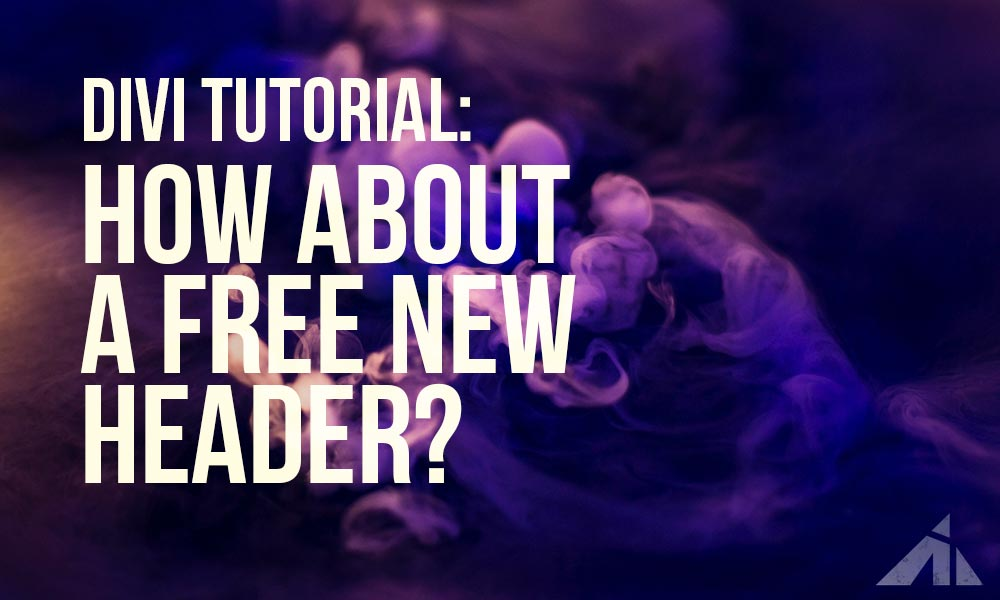 Divi Tutorial – Here's a free new header
