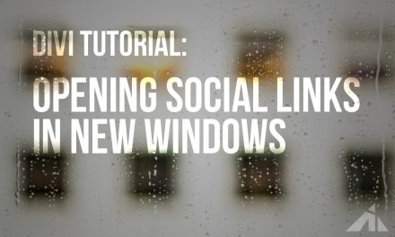 Divi Tip – Making the social links open in a new window