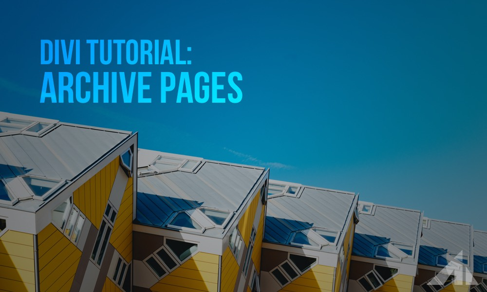 Divi Tutorial – Blog Category Pages