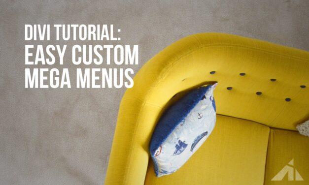 Divi Tutorial – Make your own custom megamenu