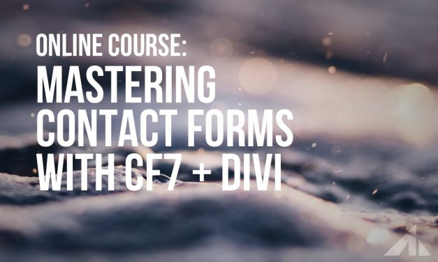 Take control of the contact form