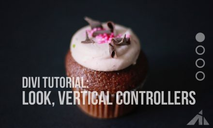 Divi tip – Vertical controllers on slider