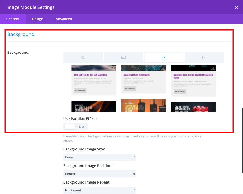 Divi - Scroll on hover