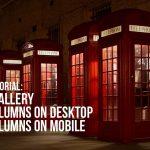 Divi – 5 column gallery on desktop and 2 on mobile