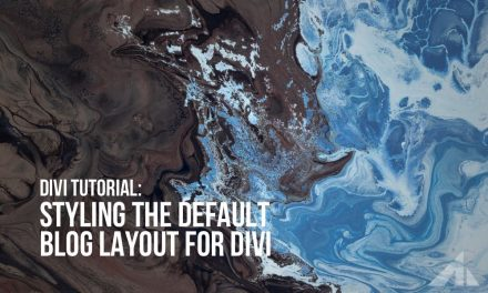 Divi – Change the look of the default blog page