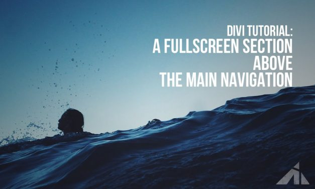 Divi  – A section above the main header