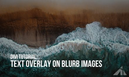 Divi – blurb text overlay