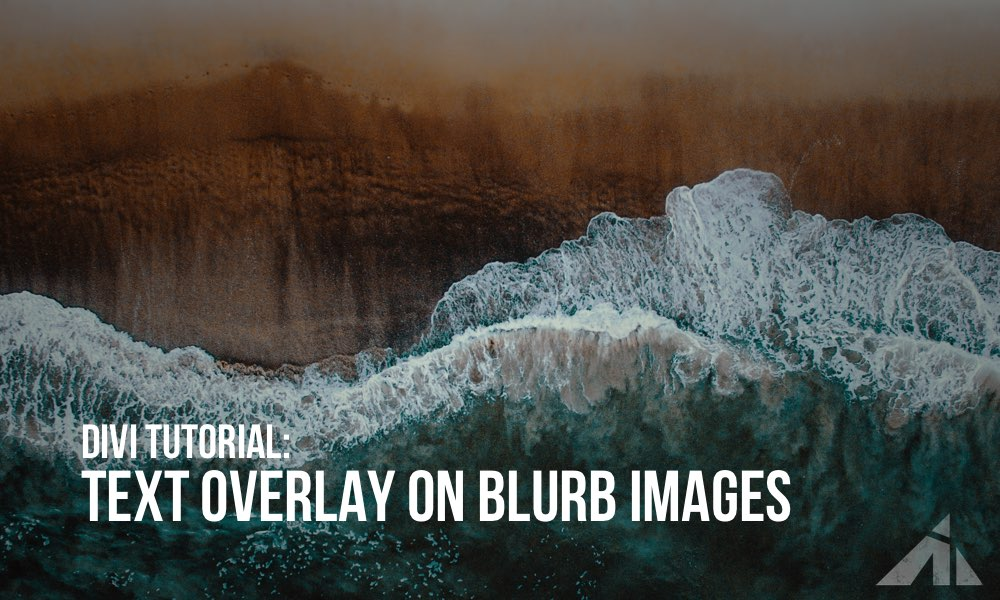 Divi – blurb text overlay