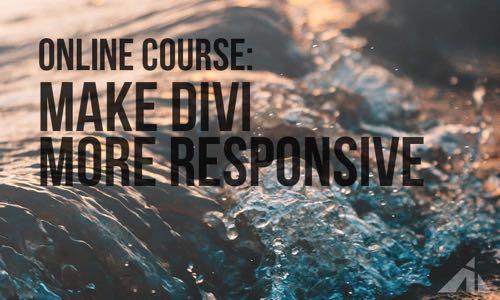 Make Divi responsive