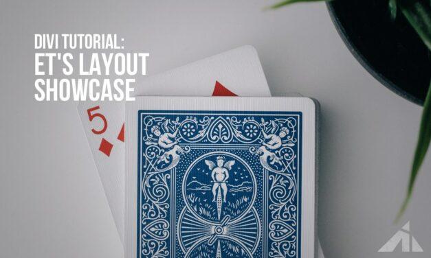 Divi – Elegant Theme's layout showcase hover