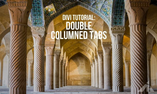 Divi – Double columned tabs